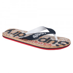 Printed Cork Flip Flop Tongs Homme