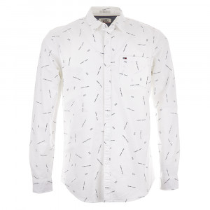 Printed Oxford Chemise Ml Homme