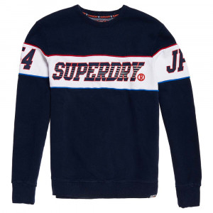 Retro Stripe Crew Sweat Homme