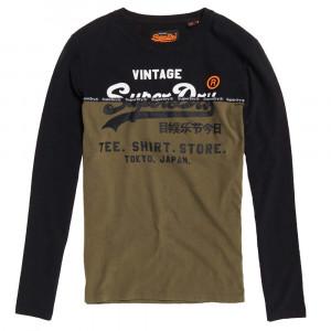 Shirt Shop Split Panel T-Shirt Ml Homme