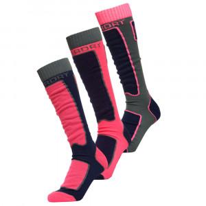 Snow Sock Triple Pack 3 Chaussettes Ski Femme