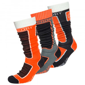 Snow Sock Triple Pack 3 Chaussettes Ski Homme
