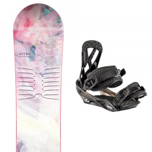 Spirit Snowboard + 20 Charger Mini Fixations Fille