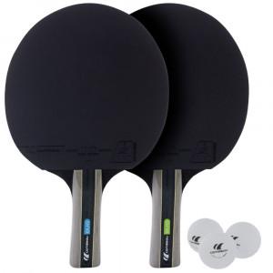 Sport Pack 2 Raquettes + 3 Balles  De Tennis De Table