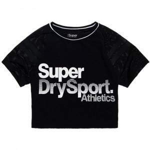 Sportmodel Airtex Cropped Top T-Shirt Mc Femme