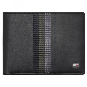 Stitched Leather Portefeuille Homme
