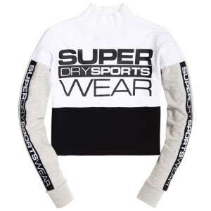 Street Sports Crop Crew Sweat Femme