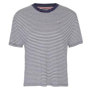 Stripe Texture T-Shirt Mc Femme