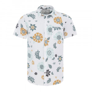 Sunset Floral Ss Chemise Mc Homme