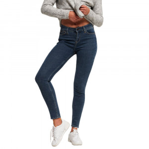 Super Crafted Skinny Mid Rise Jeans Femme