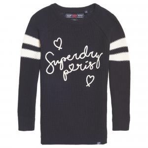 Superdry Paris Varsity Pull Femme