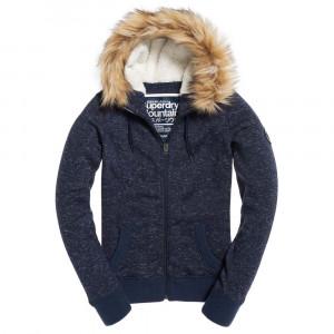 Superdry Storm Fur Sweat Zip Femme