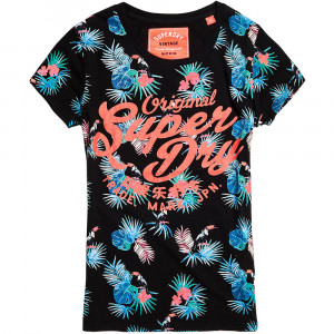 Swirlu Aop Entry T-Shirt Mc Femme