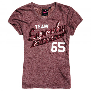 Team Comets Sequin Entry T-Shirt Mc Femme