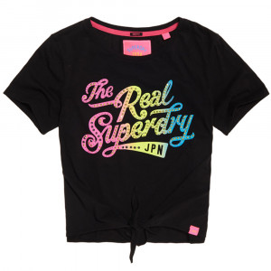 The Real Superdry Knot Font T-Shirt Mc Femme