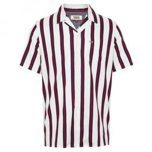 Tjm Printed Stripe Chemise Mc Homme