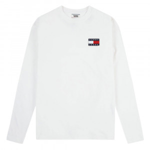 Tjm Tommy Badge Long T-Shirt Ml Homme