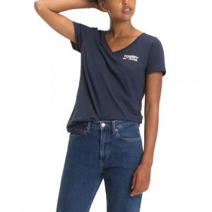 Tjw Logo V-Neck Tee T-Shirt Mc Femme