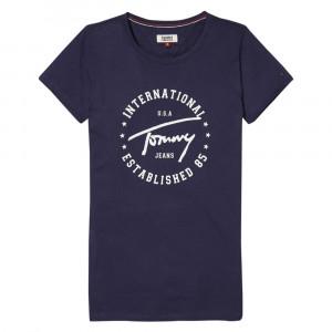 Tjw Tommy Script Cir T-Shirt Mc Femme