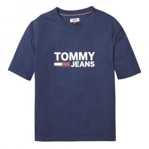 Tommy Flag T-Shirt Mc Femme