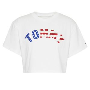 Tommy Us Flag T-Shirt Mc Femme