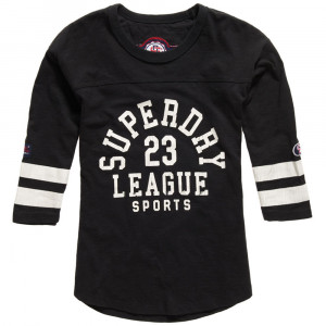 Tri League Baseball T-Shirt Ml Femme