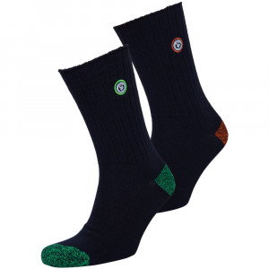University Patch Pack 2 Chaussettes Homme