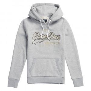 V Logo Emb Outline Entry Hood Sweat Cap Femme