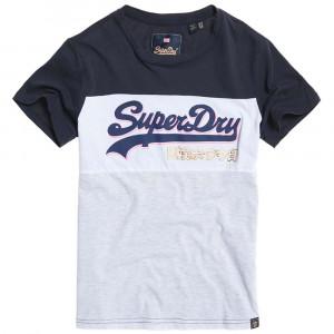 Vintage Logo Colour Block Entry T-Shirt Mc Femme