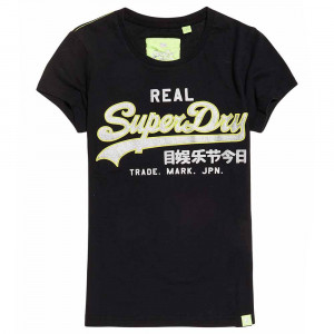 Vintage Logo Neon T-Shirt Mc Femme