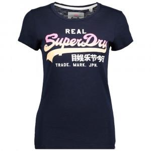 Vintage Logo Ombre T-Shirt Mc Femme