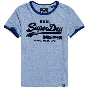 Vintage Logo Retro Ringer Entry T-Shirt Mc Femme