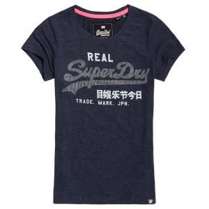 Vintage Logo Rhinestone Entry T-Shirt Mc Femme