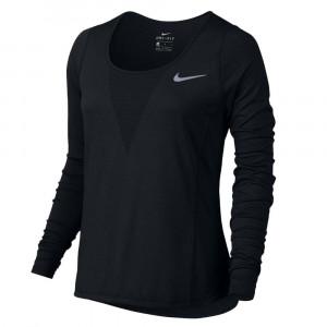 W Nk Znl Cl Relay Top Ls T-Shirt Ml Femme