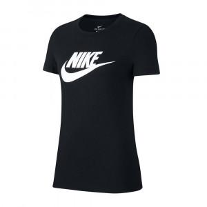 W Nsw Tee Essntl Icon Futura T-Shirt Mc Femme